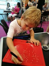 Esferas imán online-Tablero de dibujo Magnetpad 31 X 23 Cuentas de celosía y Stylus 713 Esferas magnéticas Magnet Pad Regalos Juguetes Regalo de cumpleaños para niños