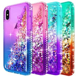 Étui de luxe de paillettes liquide brillant étincelant brillant Bling Diamant mignon pour Iphone XR XS Max 7 8 plus Samsung S9 S10 S10E Plus ? partir de fabricateur