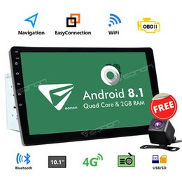 "2din bluetooth online-US CAM + Android 8.1 10 ""Doppel 2Din Autoradio GPS Navigation Bluetooth E"