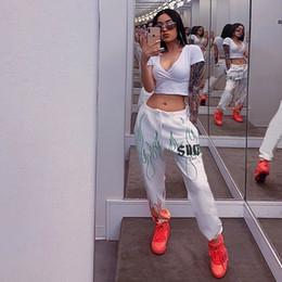 Europa harem pants moda online-2019 Europa moda donna Harem Pants Elastico in vita Sport pantaloni casual Lady pantaloni bianco C4842