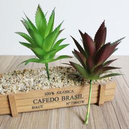 piccole piante Sconti 2 pezzi Real Touch Artificial Succulents Plants Mini Grass Small Pine Tree Aloe