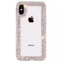 caseología iphone 6s Rebajas Las cajas del teléfono del diseñador del diamante de lujo cubren el coque para el iPhone Xs MAX Xr 6 7 8 Plus Funda Clear Clear Rhinestone Glitter Phone Case