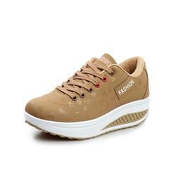 Argentina Zapatos casuales de las mujeres Zapatillas de deporte de plataforma para mujer Ligeras Cuñas Tacones Zapatos Confort Chunky Corriendo Para mujeres de talla grande Más cheap wide size running shoes Suministro