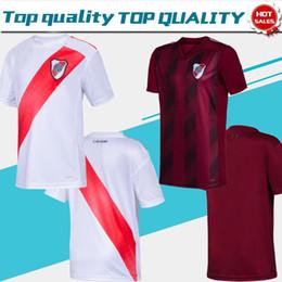 Heimplatten online-2020 River Plate-weiße Fußballjerseys 19/20 Männer weg Uniformen Customized Fußball-Fußball Shirts Fluss Platte Verkauf