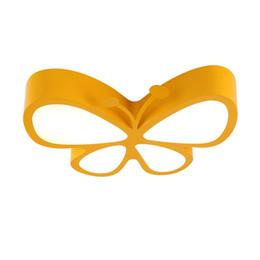 2019 iluminação legal para sala de crianças Novo design moderno criativo borboleta forma levou lâmpadas de teto romântico dos desenhos animados de iluminação de teto crianças quarto playroom levou luzes de teto