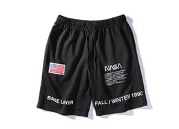 Usa kleidung online-19SS Heron Preston X NASA Shorts Herren Teenager Kleidung USA Flagge Stickerei Designer Shorts Lässige Sportbekleidung