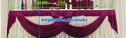 valance decor Mantle mantle drop Party Curtain swags decorazione dello sfondo da