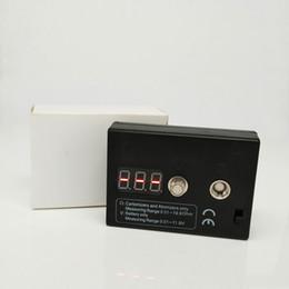 Testador de cigarros on-line-Instrumento de Teste de Cigarro E Dab Nail Portátil Box Mod Acessório para 510 Cartomizer Vape Pen Tensão Resistência Tester