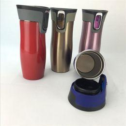 Cups water bottles en Ligne-Bouteilles d'eau en acier inoxydable tasses gobelets Double paroi vide isolé thermique de voyage bouteille de voiture tasse de voiture GGA1872