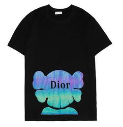 camisetas coloridas por atacado Desconto 2019 novo tee preto di homens mulheres ou carta logotipo colorido impressão reflexiva T-Shirt de manga curta O-pescoço T-Shirt atacado S-XXL