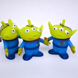 Argentina 3 unids / set Aliens figura juguetes correa del teléfono celular llavero figuras alienígenas figura de acción muñeca Anime Brinquedos juguetes para niños para niños Suministro