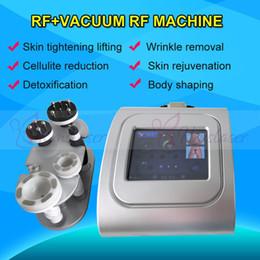 máquinas de vácuo Desconto Venda quente emagrecimento máquina de beleza do corpo com RF vaccum / máquina de beleza RF Portátil para redução de celulite e perda de peso