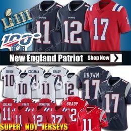 Tom trikot online-17 Antonio Brown Jersey 12 Tom Brady Jersey New Patriot 11 Julian Edelman Fußballjerseys 10 Josh Gordon Jersey 87 Rob Gronkowski Trikots