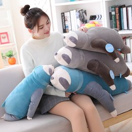 sloth toys Coupons - 65-100cm Soft Simulation New Cute Stuffed Sloth Toy Plush Sloths Soft Toy Animals Plushie Doll Pillow for Kids Birthday Gift