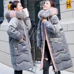 corte roupas soltas Desconto DO algodão acolchoado mulheres jaqueta 2018 New Style Inverno com capuz Straight-Cut Loose-Fit para baixo casaco de algodão acolchoado roupa Student longo Sl