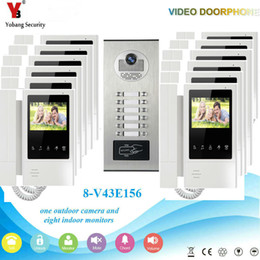 2019 telefone 4.3 Yobang Segurança Inteligente Interfone Telefone À Prova D 'Água Da Porta 4.3