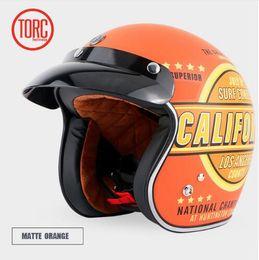 Capacetes de motocicleta personalizados on-line-TORC T50 jet capacete da motocicleta capacete aberto retro personalizado moto vintage capacete de moto moto vespa DOT