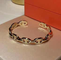 conjuntos de joyas de francia Rebajas Hot Brand Pure 925 Joyería de plata esterlina para mujeres Hombres Carta Cerradura redonda Joyería Anillo de brazalete de plata Conjunto Francia Calidad