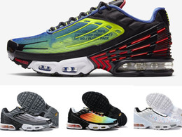 2020 neue design-sport-männer schuhe 2020 new Designs 2019 Plus III 3 TN Mens TUNED Running Shoes Classic Outdoor tn Black White Sport PLUS Sneakers Men requin Spider size 36-45 rabatt neue design-sport-männer schuhe