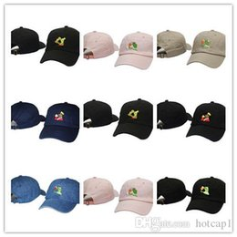 green tea men Promo Codes - Newest Frog Tea Snapback Kermit None Of My business Dad Hat Lebron James casquette kanye west Big Daddy hat Men Women Girl's Baseball c