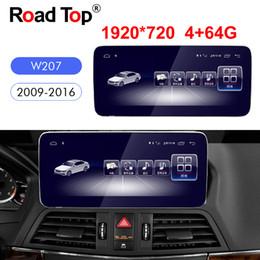 Pantalla mercedes benz online-Octa 8-Core CPU 4 + 64G Android 8.1 pantalla de la unidad principal de navegación WiFi radio de coche Bluetooth GPS para Mercedes Benz Clase E Coupe C207