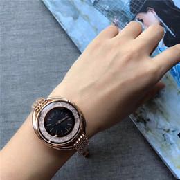 2019 dw relógios de pulso Marca de moda swarovski Mulheres Relógio De Ouro dial dial Senhoras De Aço Cadeia de relógio de pulso de Luxo de Qualidade designer de designer de relógios de Quartzo relógio dw dw relógios de pulso barato