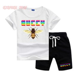 girl kids t shirt design Coupons - GVCH Little Kids Sets 1-7T Kids T-shirt And Short Pants 2Pcs sets Baby Boys Girls 95% Cotton Pattern Design Printing Style Summer Sets lw04