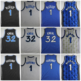 Top Quality Shaquille # 32 O Neal Jersey Penny # 1 Hardaway Maglie Tracy # 1 McGrady Maglie Stitched College Shirts Mens O'Neal Camicie S-XXL da
