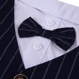 Perro mascota de esmoquin online-S / M / L / XL / XXL Pet Dog Cat Tuxedo Bow Tie Ropa Puppy Wedding Party Pet Shirt Disfraces