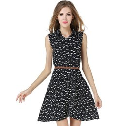 Canada Belle Eté Imprimer Mini Femmes Dress Plissée Mignonne Sweet Party Club Plage Vintage Bureau De Mousseline De Soie Femmes Noires Plus Robes De Taille cheap sweet pleated chiffon mini dress Offre