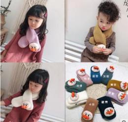 Bufanda de cordero online-Nueva llegada de invierno 2019 Versión coreana de Lamb Flannel Bread Superman y bufanda para niños y niñas