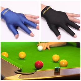 Bilardo Aksesuarları Yeni Spandex Snooker Bilardo Isteka Eldiven Havuzu Sol El Açık Spor için Üç Parmak Aksesuarı Toptan nereden toptan eldivenler spandex tedarikçiler