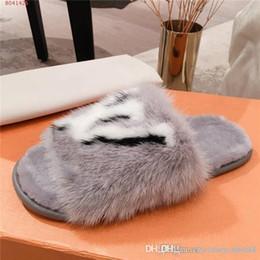 Nerz Pelz Frauen Hauspantoffel mit Fell, Weich Suite Wohnung Mules Dreamy Hausschuhe für Frauen Brown Homey Schuhe, Größe 35 42