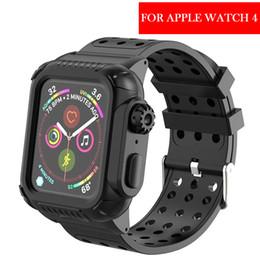 Yeni apple watch 4 40-44mm hayat için su geçirmez silikon spor band apple watch serisi 4 ile koruyucu kılıf ile kayış nereden