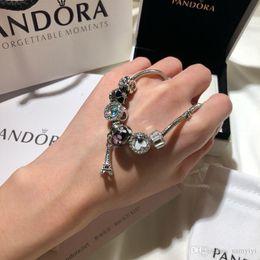 Pandora luxe designer bijoux femmes bracelets bracelet en acier inoxydable vis manchette bracciali cadeau Bracciale donna boîte d'origine ? partir de fabricateur
