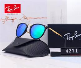 occhiali da sole blu per gli uomini Sconti 1 pz Occhiali da sole di marca Top Designer di moda per uomo Donna Gradiente in lega di metallo Oro blu Lente in vetro blu Scatola da 58 mm Custodia originale