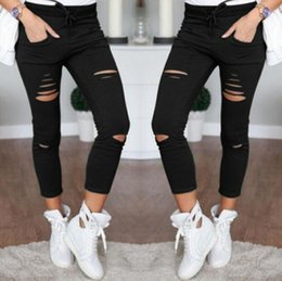 f3a48ace8a3 High Waist Jeans For Women Stretch Black Jeans 2018 Female Pants Skinny  Trousers Women Denim Ladies Push Up White  499339 wide legs jeans for women  for sale