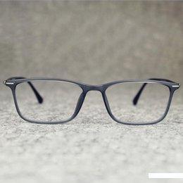 Wolfram-carbon-gläser online-Wholesale- 2016 Business Herren Marke Platz Tungsten-Glas-Rahmen Jahrgang flexilbe Myopie Carbon Steel Brillen Computer-Brillen Ocu