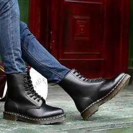 Men For Martin Boots Genuine Leather Ankle Boots Motorcycle Boots Winter Shoes Men Shoes Plus Size 46 Male Shoes