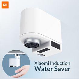 2019 video d1 Ahorrador de agua de inducción Xiaomi Zajia Grifo de agua de inducción infrarroja inteligente Grifo anti-desbordamiento Boquilla de ahorro de cabezal giratorio