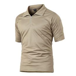 Hommes T-shirt D'été Randonnée En Plein Air Randonnée À Séchage Rapide Top Armée Hommes T-shirt Vêtements Tactique Livraison Gratuite ? partir de fabricateur