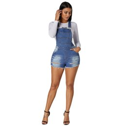 f53bfc9baaf European and American women s new casual buttons with pocket adjustable suspender  jeans