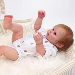 Argentina Vida Real 20 pulgadas Reborn Baby Boy Doll Tamaño Recién Nacido Vinilo de Silicona Despierto Baby Doll Kids Niños Dormir Juguete de Regalo de Navidad Suministro
