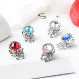 2019 perles oeil de chat violet 5 Style Big Hole Lâche Perles Diamant perle accessoires de mode charme Pandor DIY Bijoux Bracelet Européenne Bracelet Collier Livraison gratuite