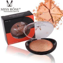 Vermisse plastik online-MISS ROSE Brand 6 Farbe Backrouge leicht zu färben leuchtend schwarz transparent Abdeckung Kunststoffschale Backrouge
