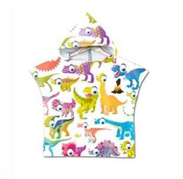 baby baden karikatur Rabatt Cartoon Kinder Badetuch Bär Dinosaurier Baby Kinder Kapuzen Badetuch Mikrofaser Jungen Mädchen Kapuzen Robe Poncho zum Schwimmen Beachwear