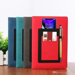 livro em capa dura Desconto Novo 100 folhas A5 Negócio Criativo Couro Notepad Bolso Bandagem Multifuncional Paperback Notebook Livre DHL 232