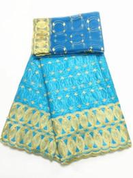 Canada J235 Ciel Est Bleu Jacquard Jacquard Africain Brodé Tissu Bazin Riche Getzner Pour Nigérian Robes De Mode Africain Dentelle Tissu Offre