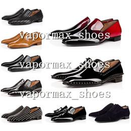 2019 colpisce le scarpe da atletica 2019 scarpe di cuoio Bottoms inferiore Designer con borchie Spikes Mens di marca dei pattini casuali uomini di partito Lover Athletic Shoes Size Eur40-45 colpisce le scarpe da atletica economici