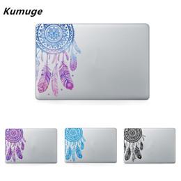 Decalques em vinil macbook on-line-Padrão de penas de flores de vinil adesivo decalque laptop para macbook air pro retina 11 12 13 15 Polegada Laptop Pele Para MacBook Air 13 T6190615